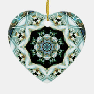 Ornamento De Cerâmica Mandalas do coração da liberdade 21 presentes