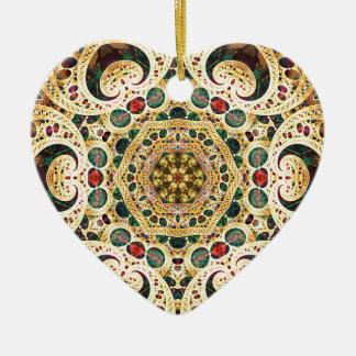 Ornamento De Cerâmica Mandalas do coração da liberdade 22 presentes