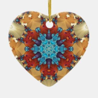 Ornamento De Cerâmica Mandalas do coração da liberdade 23 presentes