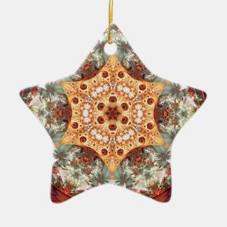 Ornamento De Cerâmica Mandalas do coração da liberdade 24 presentes