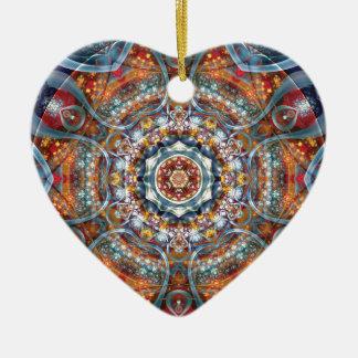 Ornamento De Cerâmica Mandalas do coração da liberdade 25 presentes