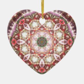 Ornamento De Cerâmica Mandalas do coração da liberdade 26 presentes