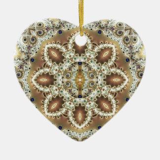 Ornamento De Cerâmica Mandalas do coração da liberdade 27 presentes
