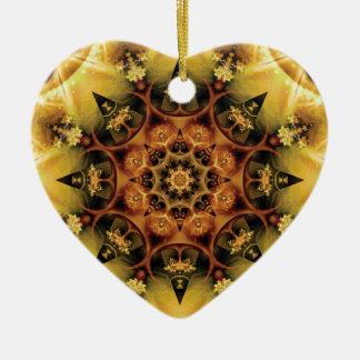 Ornamento De Cerâmica Mandalas do coração da liberdade 28 presentes