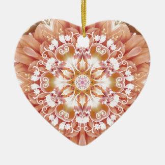 Ornamento De Cerâmica Mandalas do coração da liberdade 2 presentes