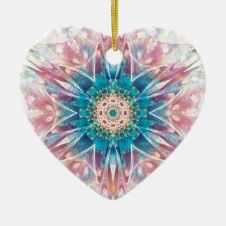 Ornamento De Cerâmica Mandalas do coração da liberdade 30 presentes
