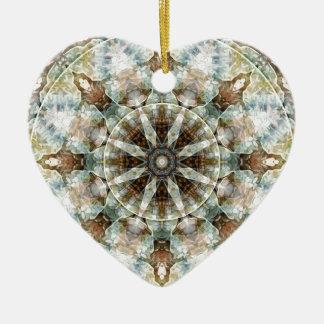 Ornamento De Cerâmica Mandalas do coração da liberdade 3 presentes