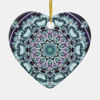 Ornamento De Cerâmica Mandalas do coração da liberdade 4 presentes