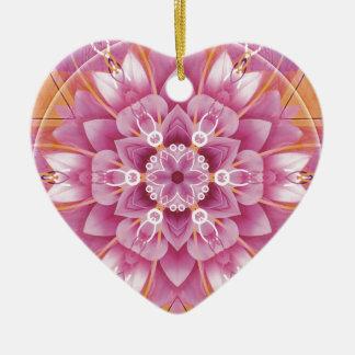 Ornamento De Cerâmica Mandalas do coração da liberdade 5 presentes