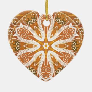 Ornamento De Cerâmica Mandalas do coração da liberdade 6 presentes