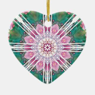 Ornamento De Cerâmica Mandalas do coração da liberdade 7 presentes