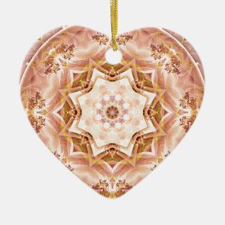 Ornamento De Cerâmica Mandalas do coração da liberdade 8 presentes