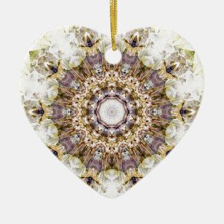 Ornamento De Cerâmica Mandalas do coração da liberdade 9 presentes