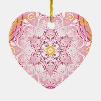 Ornamento De Cerâmica Mandalas do coração de presentes da liberdade 1
