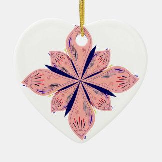 Ornamento De Cerâmica Mandalas do ouro de Rosé