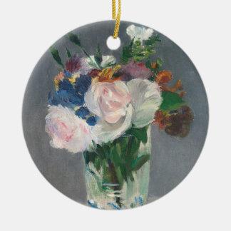 Ornamento De Cerâmica Manet | floresce em um vaso de cristal, c.1882