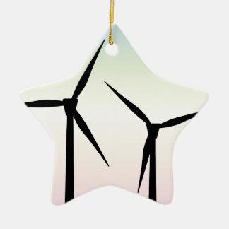 Ornamento De Cerâmica Manhã da fazenda de vento