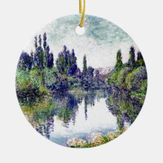 Ornamento De Cerâmica Manhã no Seine, perto de Vetheuil - Claude Monet