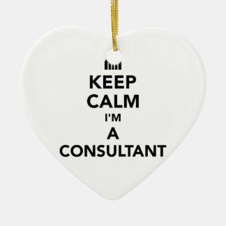 Ornamento De Cerâmica Mantenha a calma que eu sou um consultante