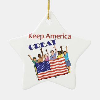 Ornamento De Cerâmica Mantenha a grande parada adulta de América