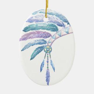 Ornamento De Cerâmica Mantilha indiana no Watercolour