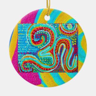 Ornamento De Cerâmica Mantra do OM - OM escrito 108 vezes
