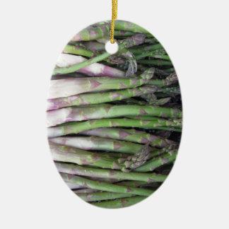 Ornamento De Cerâmica Mão fresca do aspargo escolhida do jardim