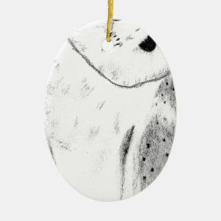 Ornamento De Cerâmica Mão original coruja de celeiro tirada