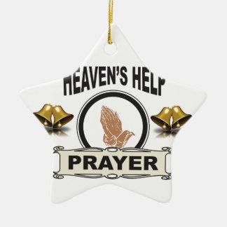 Ornamento De Cerâmica mãos da ajuda e da oração