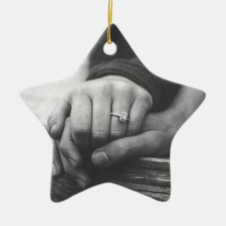 Ornamento De Cerâmica Mãos do casal