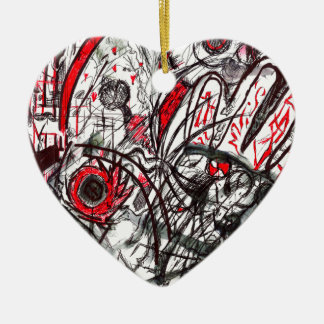 Ornamento De Cerâmica Mãos do desenho da caneta da raiva