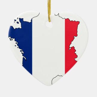 Ornamento De Cerâmica Mapa #2 da bandeira de France