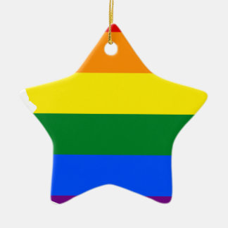 Ornamento De Cerâmica Mapa da bandeira da arizona LGBT