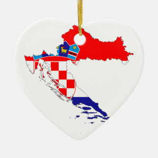 Ornamento De Cerâmica Mapa da bandeira de Croatia