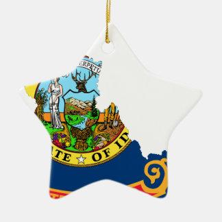 Ornamento De Cerâmica Mapa da bandeira de Idaho
