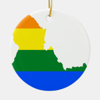 Ornamento De Cerâmica Mapa da bandeira de Idaho LGBT