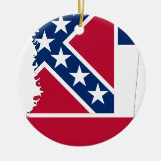 Ornamento De Cerâmica Mapa da bandeira de Mississippi