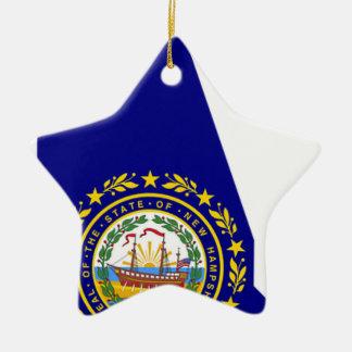 Ornamento De Cerâmica Mapa da bandeira de New Hampshire