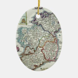 Ornamento De Cerâmica Mapa de Ireland - mapa histórico de Eire Erin do