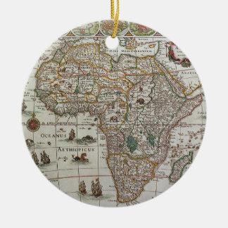 Ornamento De Cerâmica Mapa de Velho Mundo antigo de África, C. 1635