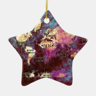 Ornamento De Cerâmica mapa do mundo