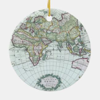 Ornamento De Cerâmica Mapa do mundo antigo do século XVII, Frederick De