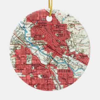 Ornamento De Cerâmica Mapa do vintage de Boise Idaho (1954)