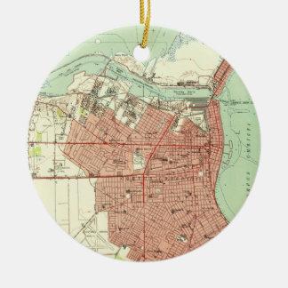 Ornamento De Cerâmica Mapa do vintage de Corpus Christi Texas (1951)
