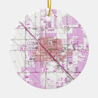 Ornamento De Cerâmica Mapa do vintage de Glendale Arizona (1957)