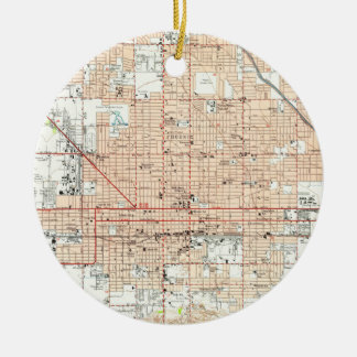 Ornamento De Cerâmica Mapa do vintage de Phoenix Arizona (1952)