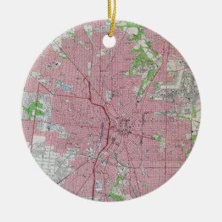 Ornamento De Cerâmica Mapa do vintage de San Antonio Texas (1953)