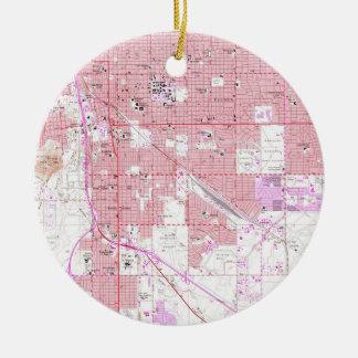 Ornamento De Cerâmica Mapa do vintage de Tucson Arizona (1957)