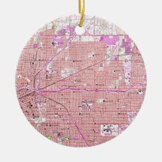Ornamento De Cerâmica Mapa do vintage de Tulsa Oklahoma (1954)