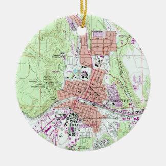 Ornamento De Cerâmica Mapa do vintage do mastro Arizona (1962)